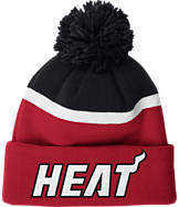 adidas Miami Heat NBA Stripe Pom Knit Hat