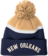 adidas New Orleans Pelicans NBA Stripe Pom Knit Hat