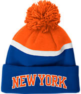 adidas New York Knicks NBA Stripe Pom Knit Hat