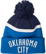 adidas Oklahoma City Thunder NBA Stripe Pom Knit Hat