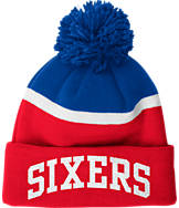 adidas Philadelphia 76ers NBA Stripe Pom Knit Hat