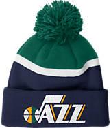 adidas Utah Jazz NBA Stripe Pom Knit Hat