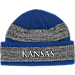 Front view of adidas Kansas Jayhawks College Player Watch Knit Cap in Team Colors