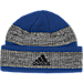 Back view of adidas Kansas Jayhawks College Player Watch Knit Cap in Team Colors