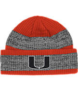 adidas Miami Hurricanes College Player Watch Knit Cap