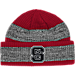 Front view of adidas NC State Wolfpack College Player Watch Knit Cap in Team Colors