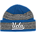 Front view of adidas UCLA Bruins College Player Watch Knit Cap in MTC