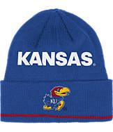 adidas Kansas Jayhawks College Coach Cuffed Beanie Knit Hat