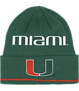 adidas Miami Hurricanes College Coach Cuffed Beanie Knit Hat