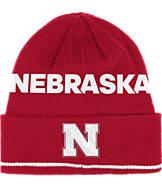 adidas Nebraska Cornhuskers College Coach Cuffed Beanie Knit Hat
