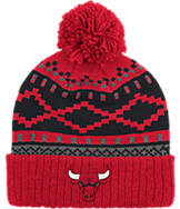 adidas Chicago Bulls NBA Diamond Cuffed Pom Knit Hat