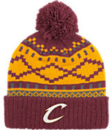 adidas Cleveland Cavaliers NBA Diamond Cuffed Pom Knit Hat