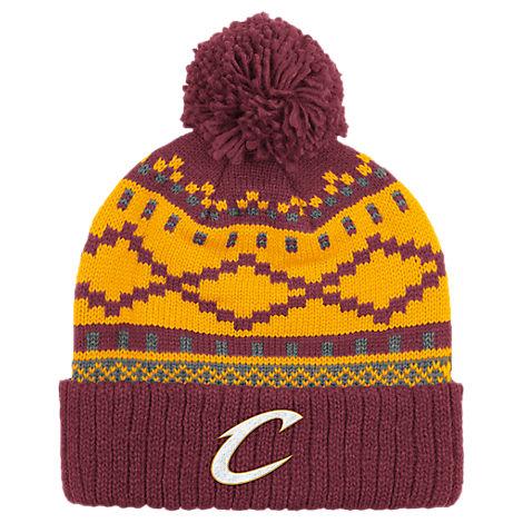 adidas Cleveland Cavaliers NBA Diamond Cuffed Pom Knit Hat