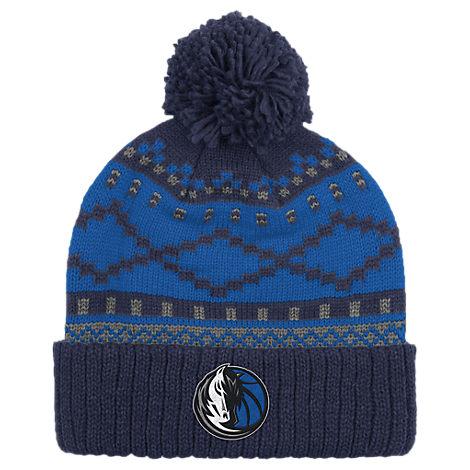 adidas Dallas Mavericks NBA Diamond Cuffed Pom Knit Hat