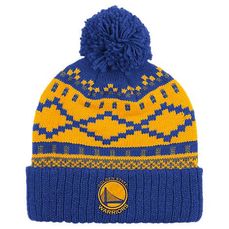 adidas Golden State Warriors NBA Diamond Cuffed Pom Knit Hat