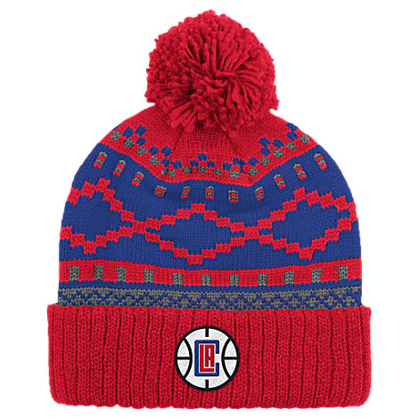 adidas Los Angeles Clippers NBA Diamond Cuffed Pom Knit Hat