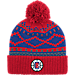 Front view of adidas Los Angeles Clippers NBA Diamond Cuffed Pom Knit Hat in Team Colors