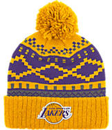 adidas Los Angeles Lakers NBA Diamond Cuffed Pom Knit Hat
