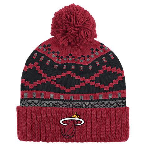 adidas Miami Heat NBA Diamond Cuffed Pom Knit Hat
