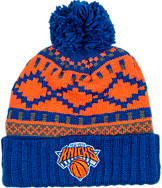 adidas New York Knicks NBA Diamond Cuffed Pom Knit Hat