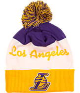 adidas Los Angeles Lakers NBA Script Cuffed Pom Knit Hat