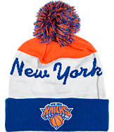 adidas New York Knicks NBA Script Cuffed Pom Knit Hat