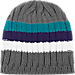 Back view of adidas Charlotte Hornets NBA Striped Knit Beanie in Team Colors