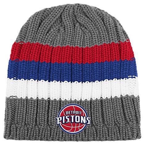 adidas Detroit Pistons NBA Striped Knit Beanie