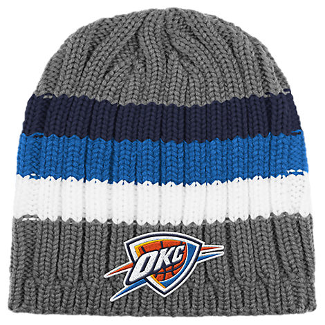 adidas Oklahoma City Thunder NBA Striped Knit Beanie