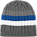 Back view of adidas Oklahoma City Thunder NBA Striped Knit Beanie in Team Colors