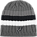 Front view of adidas San Antonio Spurs NBA Striped Knit Beanie in MTC