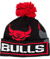 adidas Chicago Bulls NBA Oversized Team Logo Knit Hat