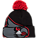 Back view of adidas Louisville Cardinals College Oversized Logo Knit Hat in BTE
