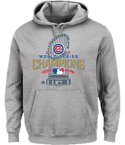 Men's Majestic Chicago Cubs MLB World Series Championship Hoodie