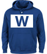 Men's Majestic Chicago Cubs MLB W Flag Hoodie