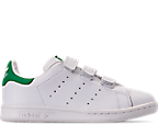 Boys' Preschool adidas Originals Stan Smith Hook-and-Loop Closure Casual Shoes