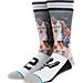 Front view of Stance San Antonio Spurs Kawhi Leonard NBA Future Legend Socks in Grey