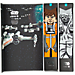 Front view of Men's Stance Star Wars 6-Pack Crew Socks in Black