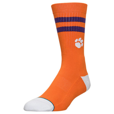 Men's Stance Clemson Tigers College Classic Crew Team Socks