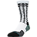 Front view of Men's Stance A-Game Crew Socks in White/Grey/Black