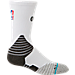 Front view of Men's Stance NBA Solid Crew Socks in White