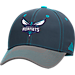 Front view of adidas Charlotte Hornets NBA Two-Toned Flex Performance Fitted Hat in Team Colors