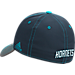 Back view of adidas Charlotte Hornets NBA Two-Toned Flex Performance Fitted Hat in Team Colors