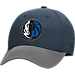 Front view of adidas Dallas Mavericks NBA Two-Toned Flex Performance Fitted Hat in Team Colors