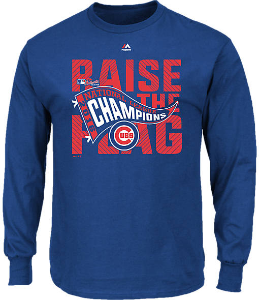 Men's Majestic Chicago Cubs MLB League Championship Long-Sleeve T-Shirt