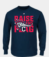 Men's Majestic Cleveland Indians MLB League Championship Long-Sleeve T-Shirt