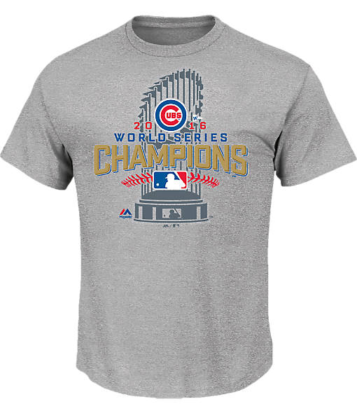 Men's Majestic Chicago Cubs MLB World Series Championship Locker Room T-Shirt