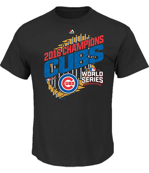 Men's Majestic Chicago Cubs MLB World Series Parade T-Shirt