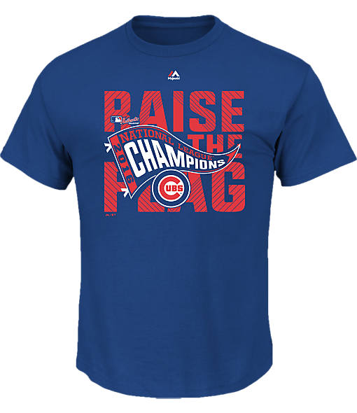 Men's Majestic Chicago Cubs MLB League Championship T-Shirt