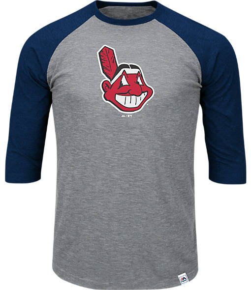 Men's Majestic Cleveland Indians MLB Margin Raglan T-Shirt